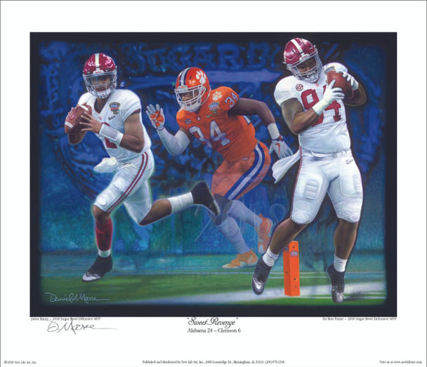 """Sweet Revenge"" - Collegiate Classic 8x10  Alabama vs. Clemson - CFP Semi-Finals - 2018 Sugar Bowl"