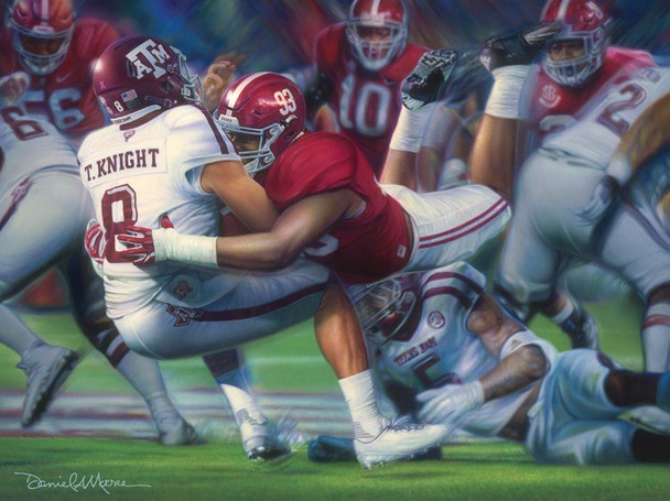 """Leap of Faith"" - Limited Edition Prints (Alabama Football vs. Texas A&M 2016)"