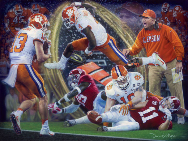 """""""Legends & Champions"""" - Limited Edition Canvases - Clemson Football 2016 National Champions"""