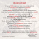 """Detail of """"Perfection"""" Poem by Todd Bates."""