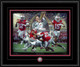 """""""Champions of a New Era"""" shown framed in our Black Frame with Black & Scarlet matting."""