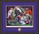 Shown in our Walnut frame with Purple/Orange matting