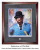 """""""Reflections of the Bear"""" print shown in our Burled Mahogany frame with Charcoal Suede/Blue matting."""