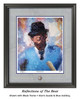 """""""Reflections of the Bear"""" print shown in our Black frame with Storm Suede/Blue matting."""