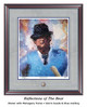 """""""Reflections of the Bear"""" print shown in our Mahogany frame with Storm Suede/Blue matting."""