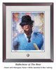 """""""Reflections of the Bear"""" print shown in our Mahogany frame with White Speckled/Blue matting."""