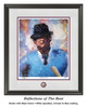 """""""Reflections of the Bear"""" print shown in our Black frame with Speckled White/Crimson/Blue matting."""