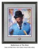 """""""Reflections of the Bear"""" print shown in our Black frame with Storm Suede/Crimson/Blue matting."""