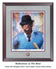 """""""Reflections of the Bear"""" print shown in our Maghogany frame with Storm Suede/Crimson/Blue matting."""