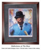 """""""Reflections of the Bear"""" print shown in our Burled Mahogany frame with Charcoal Suede/Crimson/Blue matting."""