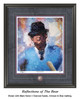 """""""Reflections of the Bear"""" print shown in our Black frame with Charcoal Suede/Crimson/Blue matting."""