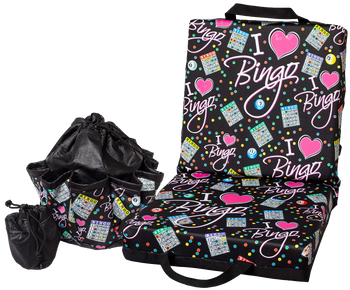 I Love Bingo Double Cushion & Tote Set
