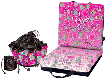 I Love Bingo Pink Double Cushion & Tote Set