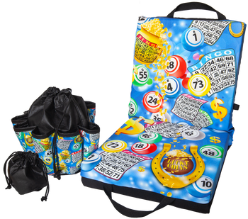 Bingo Blue Double Cushion & Tote Set