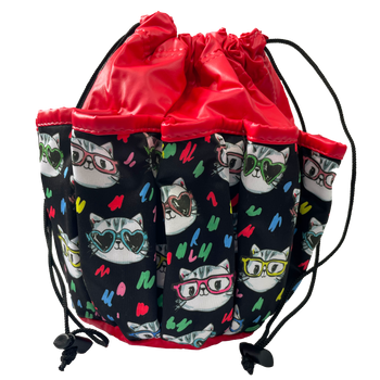 Cats With Glasses 10 Pocket Tote Bag