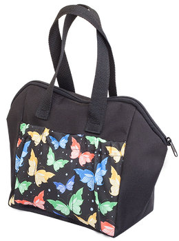 Butterfly 6 Pocket Tote Bag