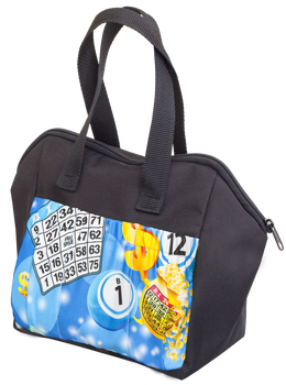 Blue Bingo 6 Pocket Tote Bag
