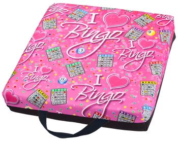 I Love Bingo Pink Single Cushion