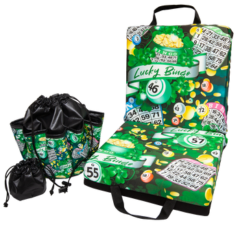 Lucky Bingo Double Cushion & Tote Set