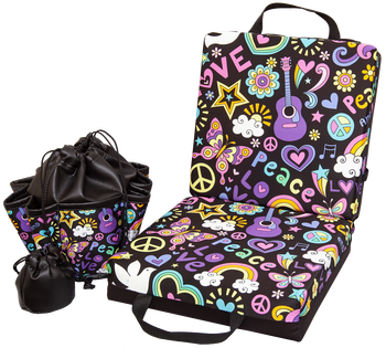 Peace Love Double Cushion & Tote Set