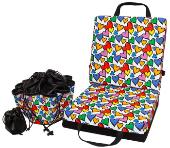 Hearts Double Cushion & Tote Set