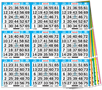 9on Square 3up - 1,000 books per set - Standard series is 18-27,000