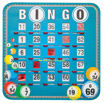 Bingo Balls Shutter Cards 10, Quick Clear