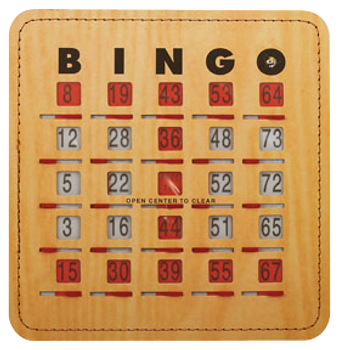 Stitched Bingo Shutter Card 25 Pack, Quick Clear