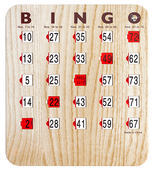 Wood Grain Bingo Shutter Cards 25 Pack