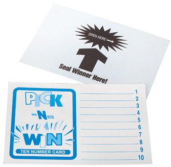 Pick-N-Win Card 10 Lines