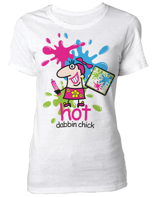 T-Shirt Hot Dabbin Chick