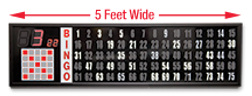 5 Foot Electronic Flashboard, 2 Inch Numbers