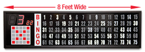 8 Foot Electronic Flashboard, 3.25 Inch Numbers