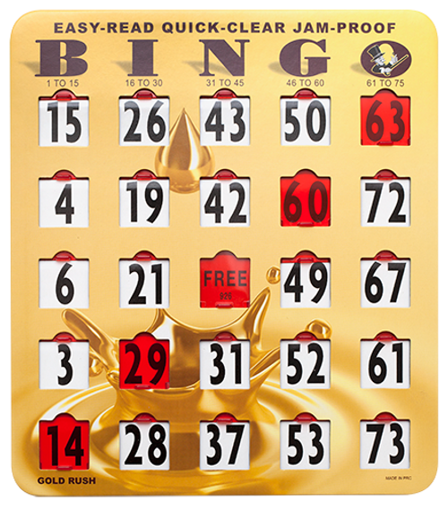 Large Print Quick Clear Bingo Shutter Card