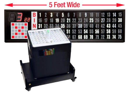 Professional Table Top bingo blower, 5 foot Flashboard, Base