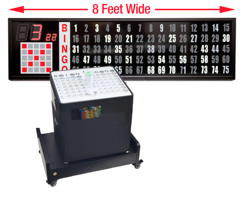 Professional Table Top bingo blower, 8 foot Flashboard, Base