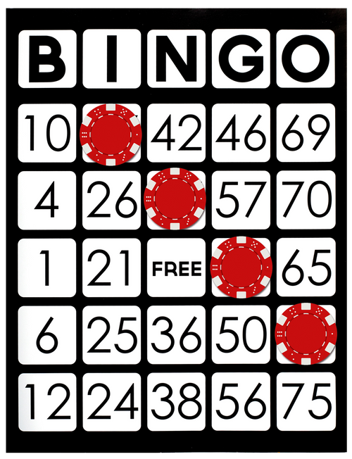25 EASY Read Paper Bingo Cards