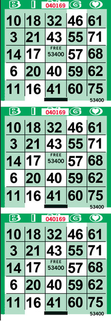 Cross Green Bingo Paper by the Case
