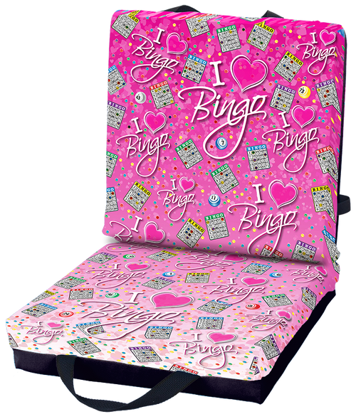 I Love Bingo Pink Double Cushion