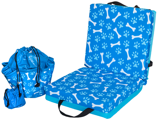 Paws and Bones Double Cushion & Tote Set