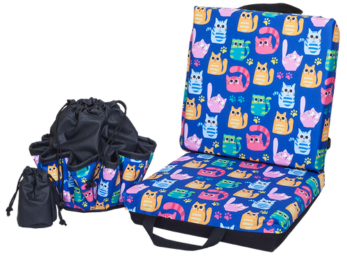 Cats Double Cushion & Tote Set