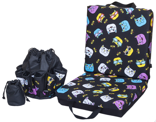 Cats Meow Double Cushion & Tote Set