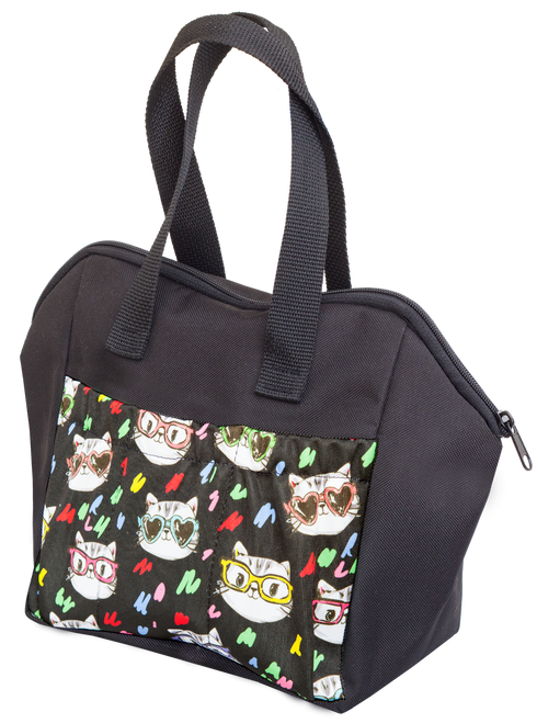 Cats With Glasses 6 Pocket Tote Bag