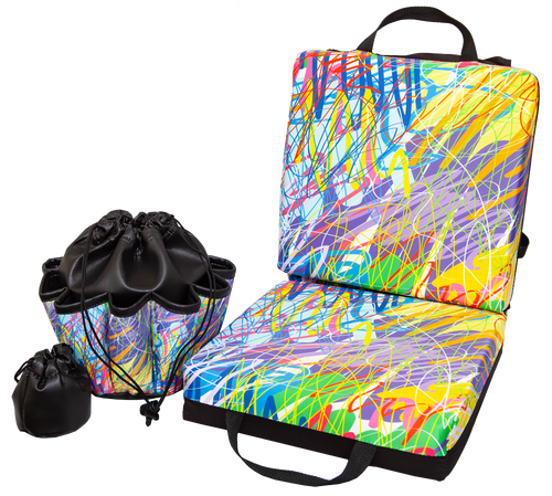Paint Running Double Cushion & Tote Set