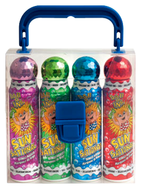 4 Bottle 1.5 Ounce Sunsational Ink Bingo Dauber Gift Pack