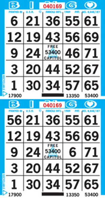 2on Bingo Paper By The Bundle