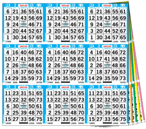 9on Square 5up - 1,000 books per set - Standard series is 18-27,000