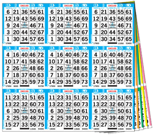 9on Square 6up - 1,000 books per set - Standard series is 18-27,000