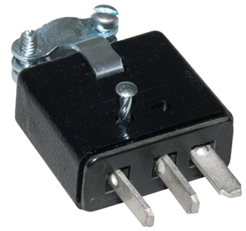 Male 3 Prong Cable Mount Connector