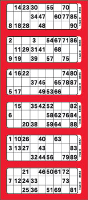 6View Bingo Paper Red